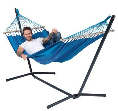 Easy & Relax Blue Hamak Pojedynczy ze Stelażem