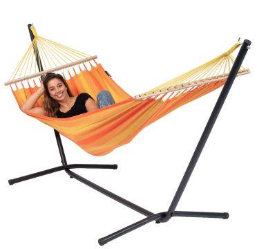 Easy & Relax Orange Hamak Pojedynczy ze Stelażem